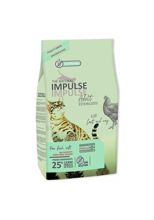PIENSO THE NATURAL IMPULSE CAT ESTERILIZED 2KG