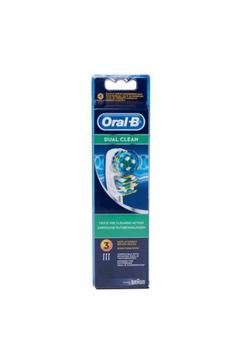 ORAL B DUAL CLEAN RECAMBIO 3U