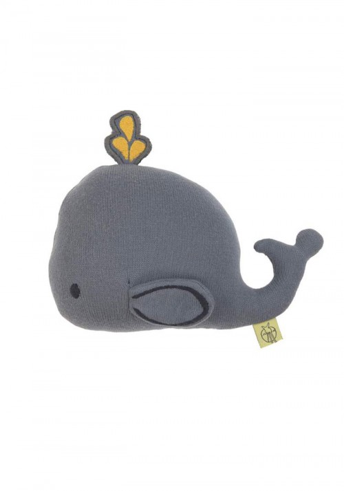 LASSIG KNITTED TOY LITTLE WATER WHALE